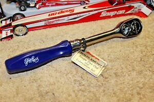 Snap on Tools 3 8 F836 Blue Hard Handle Ratchet Limited Edition Dale Earnhardt