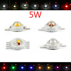5w Led Beads Lamp Diodes High Power Chip Whi Red Blu Grn Ir Spectrum T2