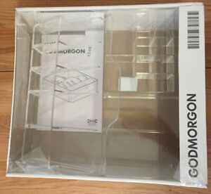 Ikea Godmorgon Clear Organizer Box Drawer W compartments 12 5 X 11 New