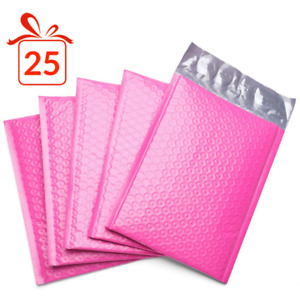 Durable Padded Envelopes 6x10 Bubble Wrap Mailers Poly Dvds Cds Jewelry Pink 25
