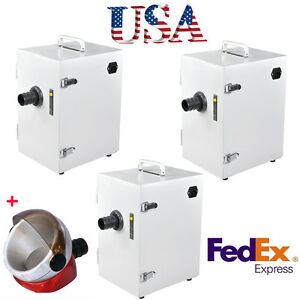 3units Dental Lab Digital Single row Dust Collector Vacuum Cleaner Cleaning Usa