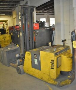 3000 Lb Yale mcw030lcn24tv083 Counterbalanced Electric Pallet Stacker 28616