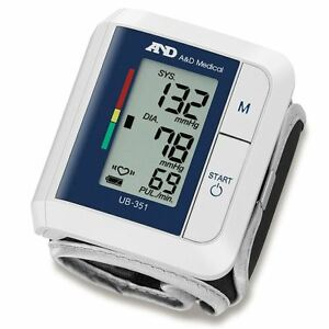 A d Medical Advanced Wrist Blood Pressure Ihb Monitor Compact Portable Ub 351