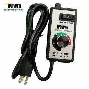 Ipower Variable Speed Controller Electric Motor Rheostat Inline Fan Hvac Control