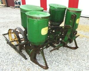 John Deere 2 Row Planter With Fertilizer Attachment We Can Ship Fast