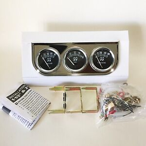 Mooneyes Classic 3 Gauge Set With Chrome Under Dash Panel Mechanical