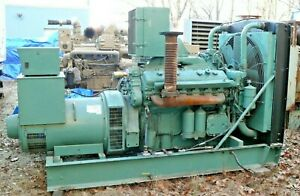 Detroit Diesel Standby continuous Power Generator Set 250 Kwh 3ph 208v Or 480v