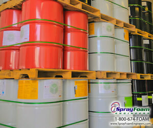 open Cell closed Cell Available Spray Foam Insulation Barrel Sets