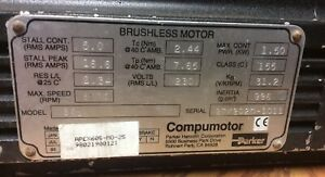 Compumotor Parker Stepper Motor Brushless 605 Speed 6200