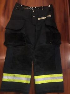 Firefighter Janesville Lion Apparel Turnout Bunker Pants 34x28 07 Black Costume