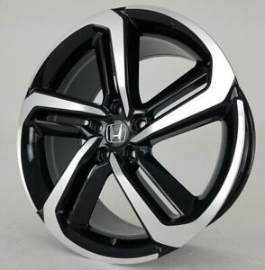 2018 19 Fits New Accord Sport Wheels 19 Black Machine Face Rims Honda Acura