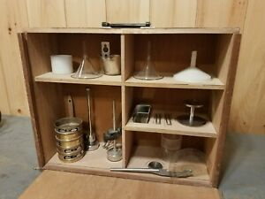 Atm Sonic Sifter Accessory Set For L3p Sieve Funnel Shadow Box Antique Display