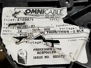 Omnicable 14 1p Twist Pair Thhn thwn 2 Stranded Wire Cable Black red 100ft