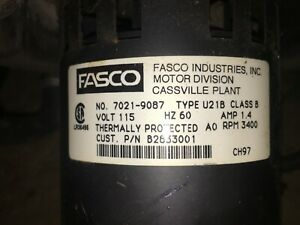 Furnace Draft Inducer Motor Assembly 7021 9087 U21b P n B2833001 Fasco