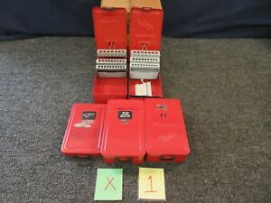 5 Snap on Drill Bit Storage Metal Red Cases Case Dba126a Hex Ket Set Empty Used