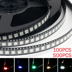 5050 Led Smd Smt Plcc 6 Red Green Blue Yellow White 5colours Light Diodes Bs T2