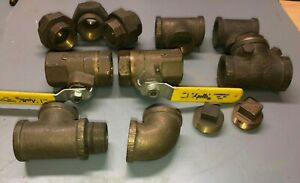 Lot Of Brass 12 1 1 4 Fittings Valves Unions Plugs
