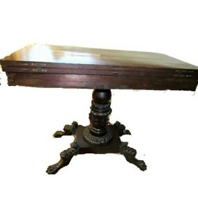 Antique Philadelphia Mahogany American Classical Card Gaming Table Ca 1810