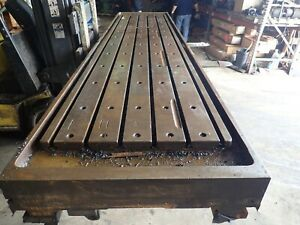 157 X 36 x 9 25 Steel Welding T slot Table Cast Iron Layout Plate 6 Slot