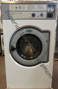 Wascomat W640 Hard Mount Washer 40lb White Coin 220v 1ph Reconditioned