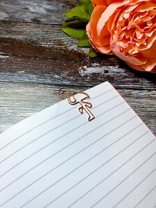 Rose Gold Flamingo Multi hollow Paperclip File Binder Bookmark Wire Stationery