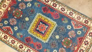 Antiquity Persian Caucasian Super Kazakh Tribal Hand Knotted Rug 100 Wool 3 X5
