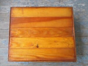 Vintage Wood Furniture Dolly Rolling Sculpture Plant Mover Stand Wheeled Wooden