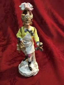 Antique French Samson Porcelain Figurine The Wine Vendor 19thc