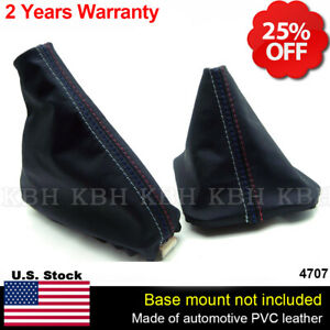 Shift Boot And E Brake Boot Set Vinyl Leather For Bmw E46 99 04 M3 Style Stitch