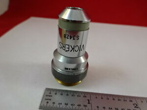 Objective 10x Vickers England Optics Microscope Part As Pictured