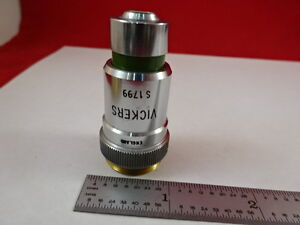 Objective 40x Vickers England Optics Microscope Part As Pictured