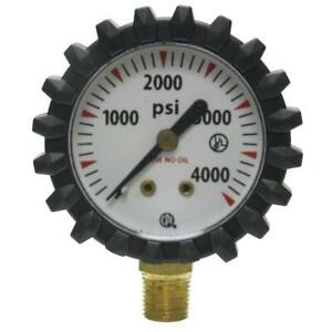 Uniweld G56d 1 1 2 inch 4000 Psi Oxygen Replacement Contents Gauge With