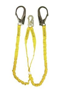 Roof Fall Protection Guardian Rebar Hook Double Leg Lanyard Roofing Work Safety