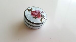 Vintage Sterling Silver 935 Guilloche Enamel Pill Box Hallmarked Beautiful Offer