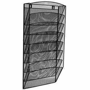 Steel Hanging Wall Files Mesh Magazine Rack Functional Opaque Organizer Great