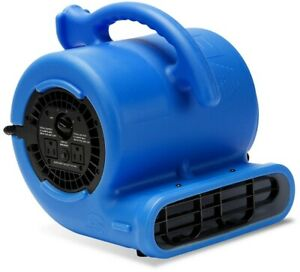 Blower Fan 1 4 Hp Air Mover 3 speeds 115 volt Cycle Built in Power Outlets