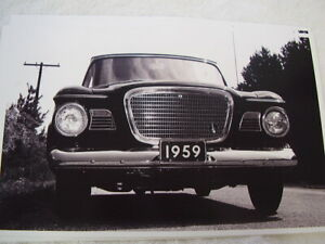 1959 Studebaker Lark 2dr Front View 11 X 17 Photo Picture