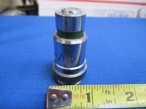 Vickers Uk England Objective 40x Microscope Part Optics As Pictured
