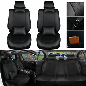 Pickup Truck Car Seat Covers Set Pu Leather For 4 door Toyota Tundra 2007 2018