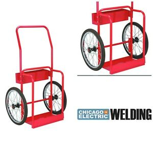 Gas Welding Cart Welder Tig Tank Tool Organizer Shop Garage Portable Equipment