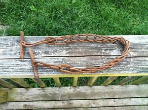 Antique Civil War Era Kentucky Horse Trace Chain