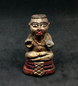 Kuman Thong Lp Tae Thra Krud Thai Genuine Amulets Holy Powerful Lucky Wealthy A