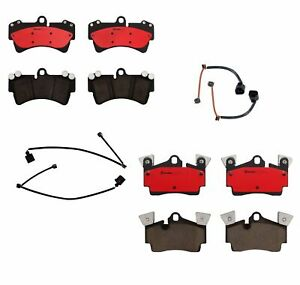 Front Rear Brembo Brake Pads Set With Sensors Kit For Audi Q7 Porsche Cayenne