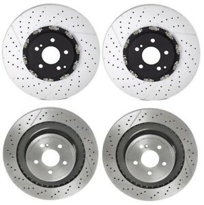 Front Rear Pvt Brake Kit Disc Rotors Brembo For Mb W212 E63 Amg No B07