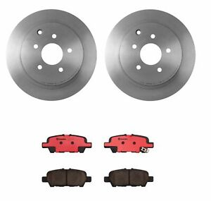 Brembo Rear Brake Kit Ceramic Pads Disc Rotors For Fx35 Jx35 Qx70 Murano Quest