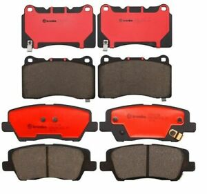 Front Rear Brembo Brake Pads Set Kit For Cadillac Cts Luxury Premium 2014