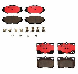 Front And Rear Brembo Brake Pads Set Ceramic Kit For Lexus Is250 2006 2009