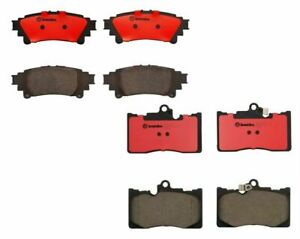 Brembo Front And Rear Premium Ceramic Brake Pads Kit For Lexus Gs350 Is350 Rc350