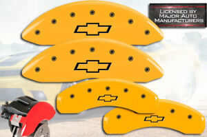 2007 2014 Chevy Tahoe Front Rear Yellow Mgp Brake Disc Caliper Covers Bowtie