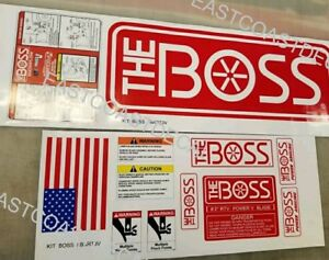 Rt3 Pow V Blade Boss Snow Plow Decal Replacement 11pc Kit Blade Warning Bkrt3v